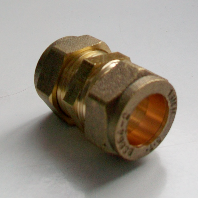 15mm Brass Compression Slip Coupling - 24901500